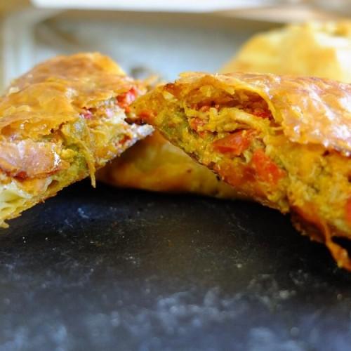 crab piri piri pastry
